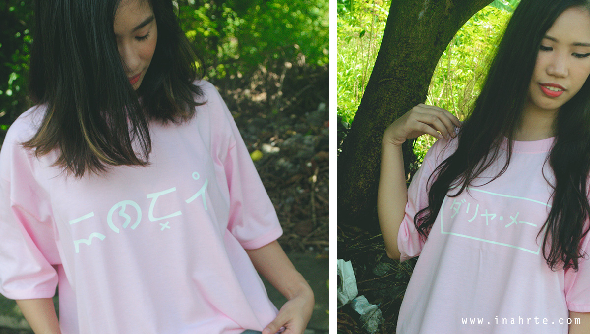 Customized shirt baybayin katakana