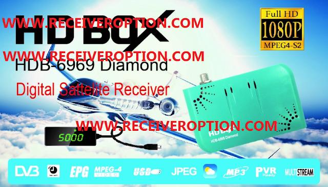 HD BOX HDB-6969 DIAMOND RECEIVER POWERVU KEY NEW SOFTWARE