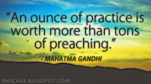 Good Morning For Her: An ounce of practice is worth more than tons of preaching