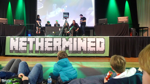 The parent and child's experience at a Minecraft Convention - Nethermined 3 Newcastle