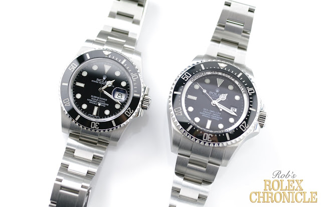 photo of Rolex Submariner Date and Deepsea Side by Side
