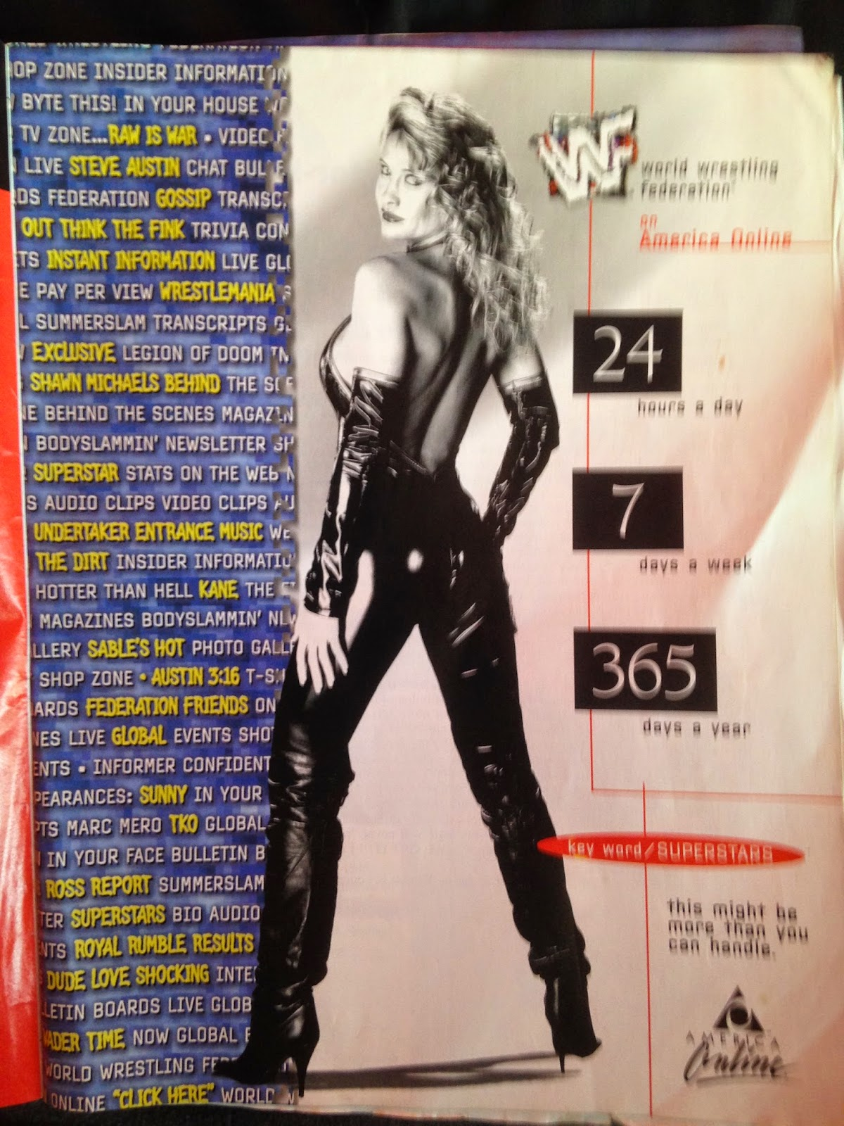 WWF Raw Magazine - January 1998 - Sable WWF Online ad