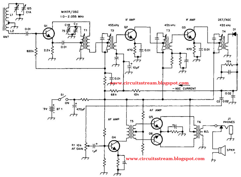 Simple Transistorized Am Radio Circuit Diagram
