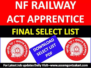 NF Railway Act Apprentice Final Select list 2019