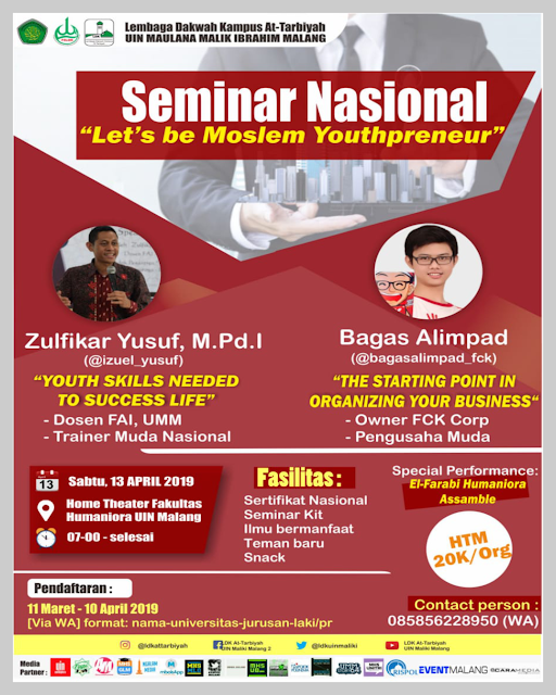 SEMINAR NASIONAL - Let's be Moslem Youthpreneur