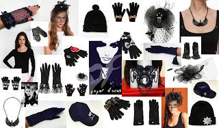 siyah şapka eldiven tişört paper faces n11.com
