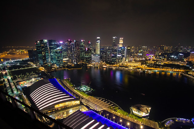 Vista dal Marina bay Sands-Singapore