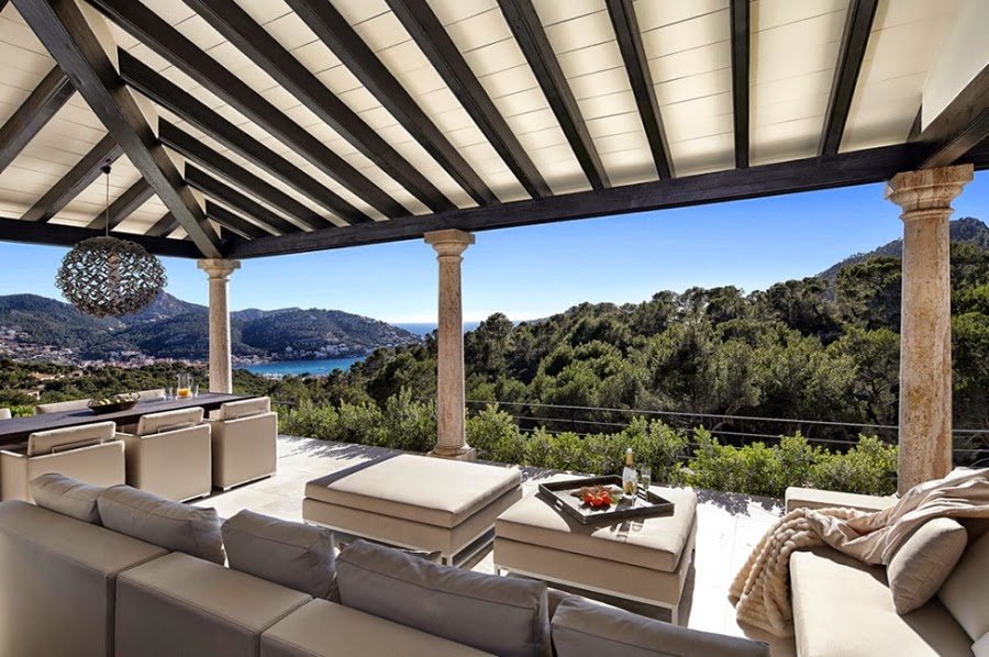 Nowoczesna willa na Majorce, wystrój wnętrz, wnętrza, urządzanie domu, dekoracje wnętrz, aranżacja wnętrz, inspiracje wnętrz,interior design , dom i wnętrze, aranżacja mieszkania, modne wnętrza,
