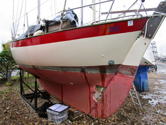 Insurance Survey of a Frances 26 at Emsworth Yacht Harbour