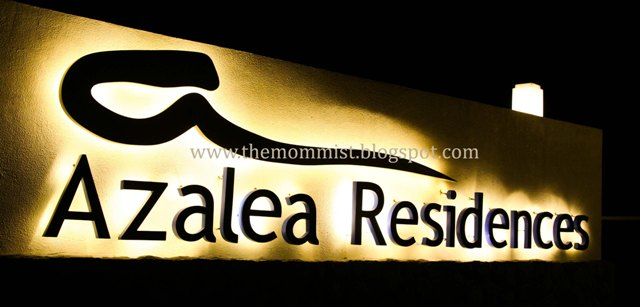 Azalea Residences illuminated signage