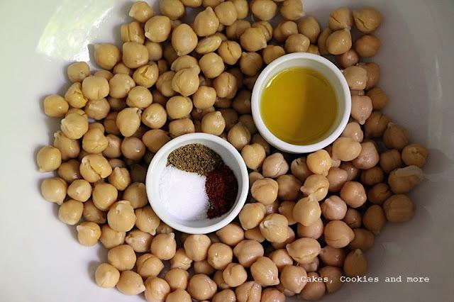 Zutaten für geröstete Kichererbsen