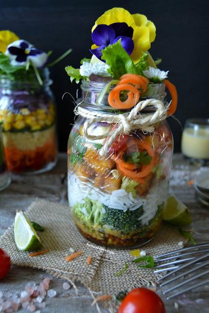 Salade en Jar Vegan / Salad in a Jar Vegan