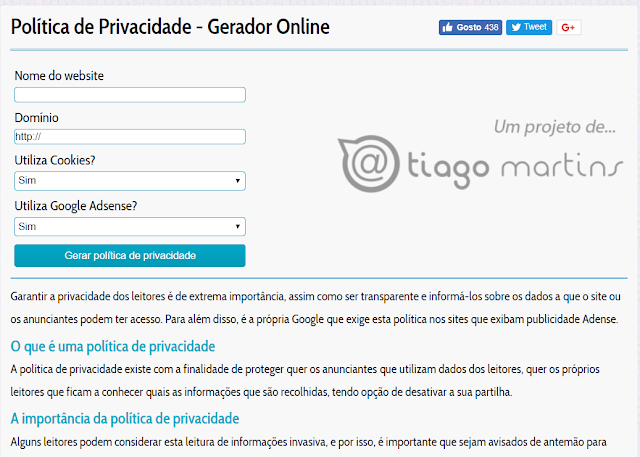 Gerador online