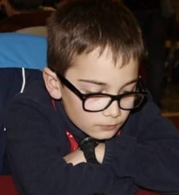 El joven ajedrecista David Acevedo Egido