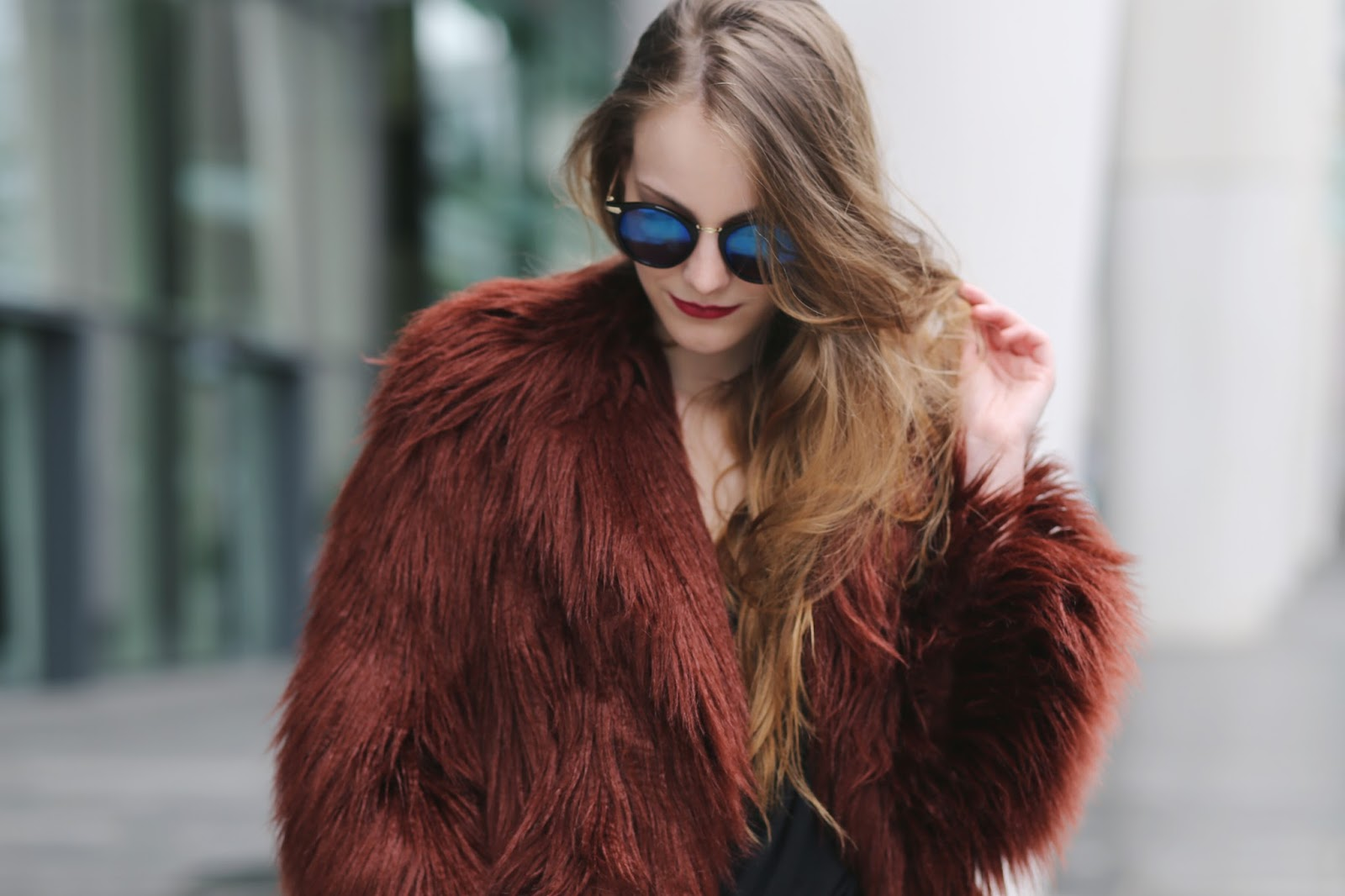 burgundy faux fur coat, faux fur coat womens, fake fur coats, burgundy fluff