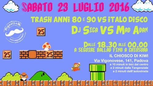 Trash Music al Chioso di Kiwi a Padova, Locandina