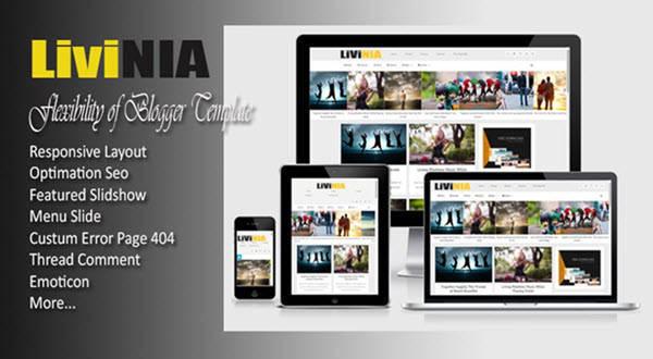 Livinia - Responsive Blogger Template - Personal Blogging