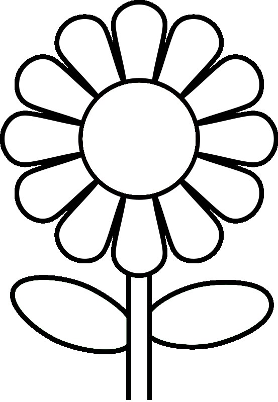 Flower Coloring Pages For Preschoolers Flower Coloring Page