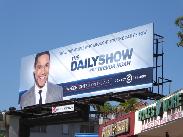 Daily Show Trevor Noah billboard September 2015