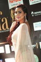Prajna Actress in backless Cream Choli and transparent saree at IIFA Utsavam Awards 2017 0066.JPG