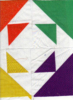 Move the quilting squares around for a different block design.