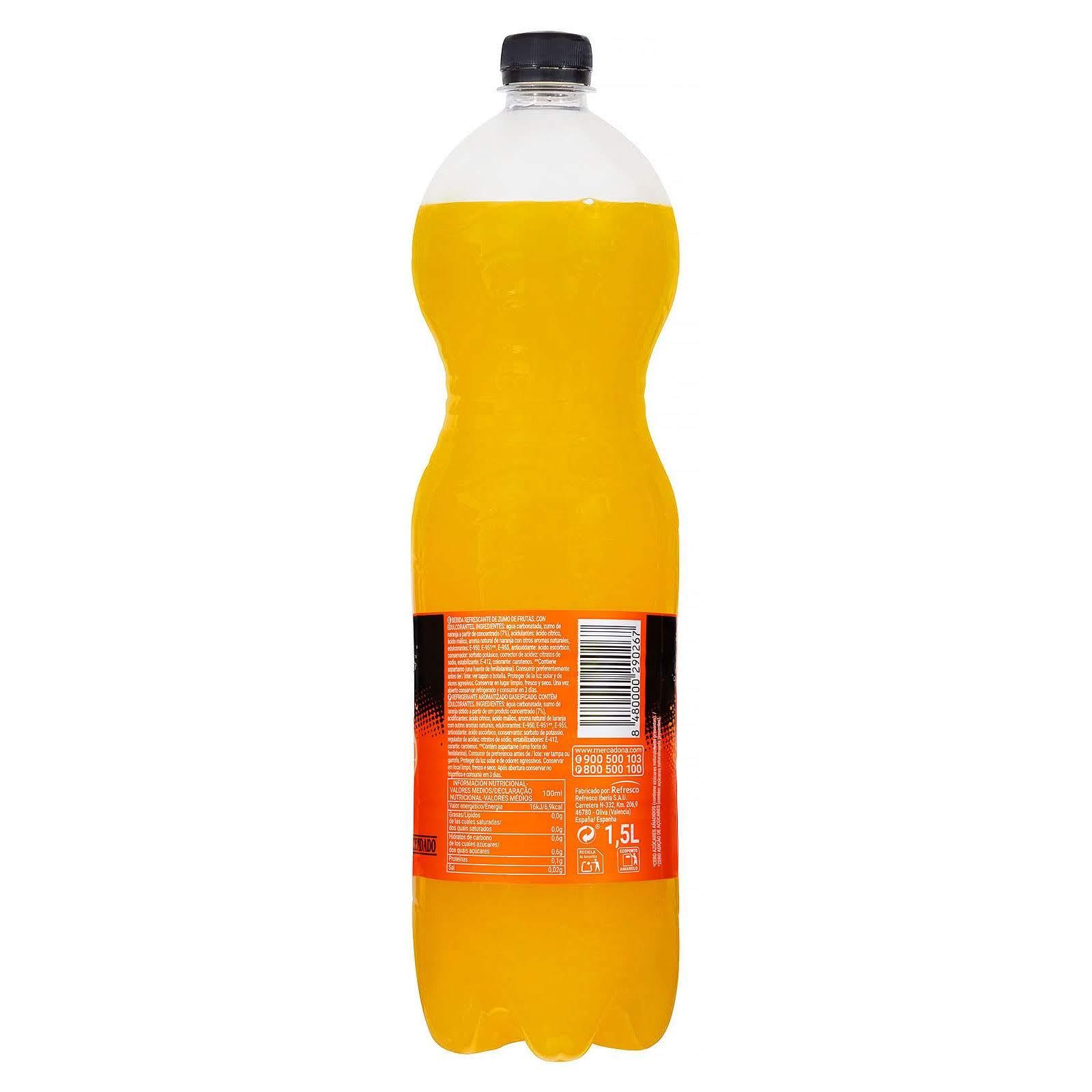 Refresco de naranja Fresh Gas zero Hacendado