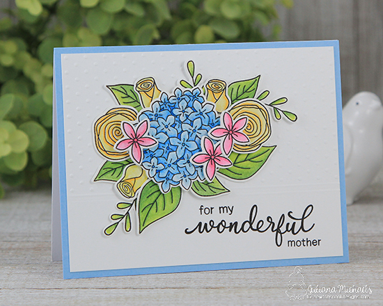 Wonderful mother floral card by Juliana Michaels | Simply Relative & Lovely Blooms Stamp sets by Newton's nook Designs #newtonsnook
