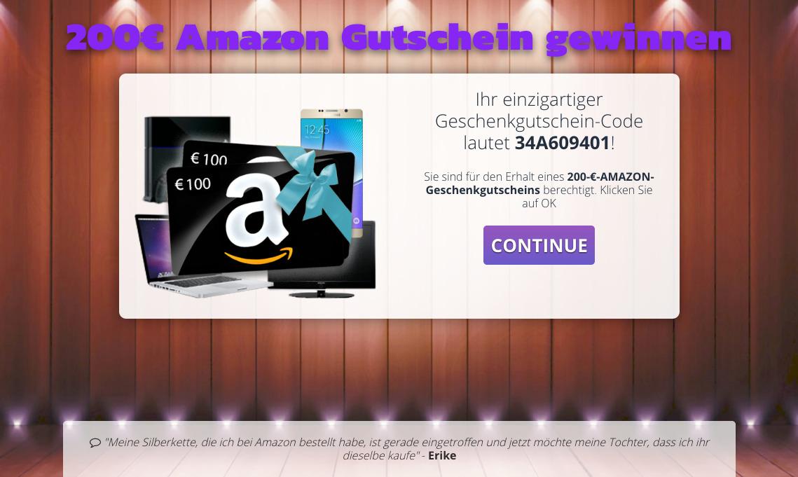 Vorsicht Email Amazon Online Bestellung Sichern Sie Ihren Code