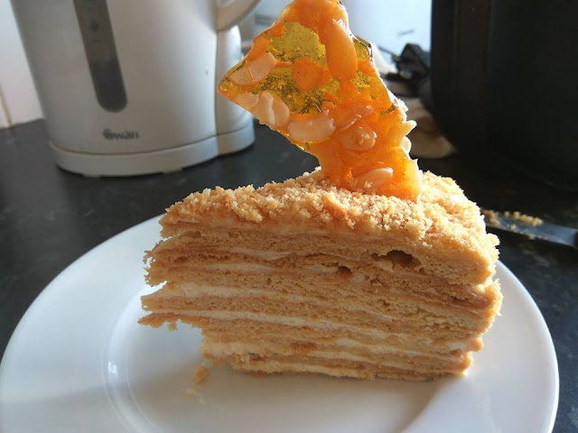 Medovik - Ukranian 8 Layered Honey Cake