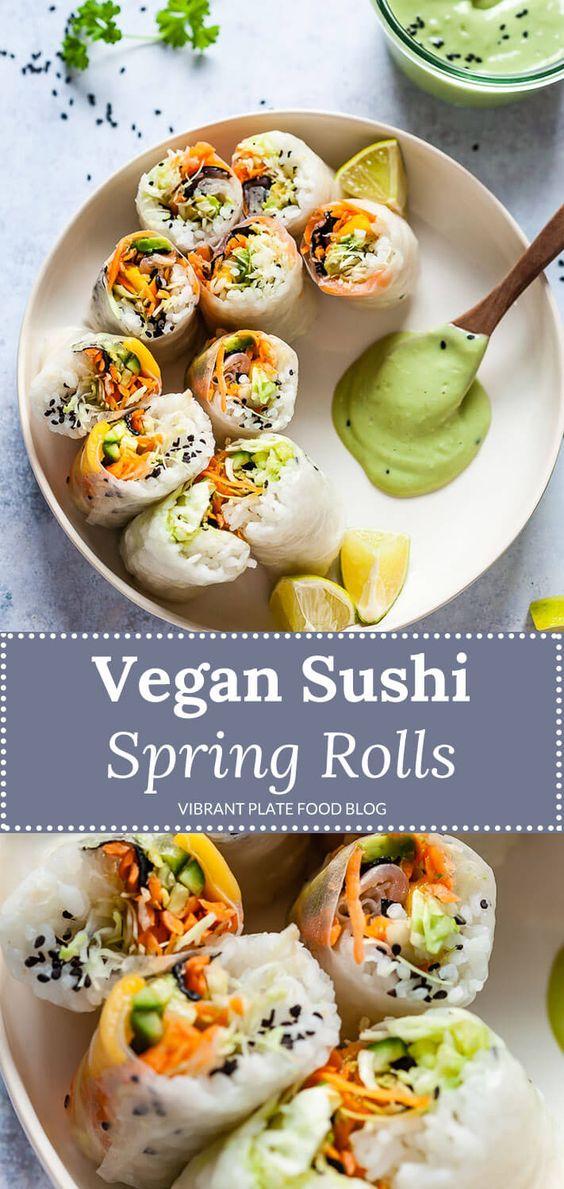 fresh sushi spring rolls {vegan, gluten-free} fresh sushi spring rolls {vegan, gluten-free}