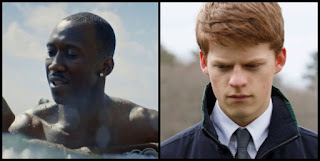 Mahershala Ali (Moonlight) y Lucas Hedges (Mánchester frente al mar)