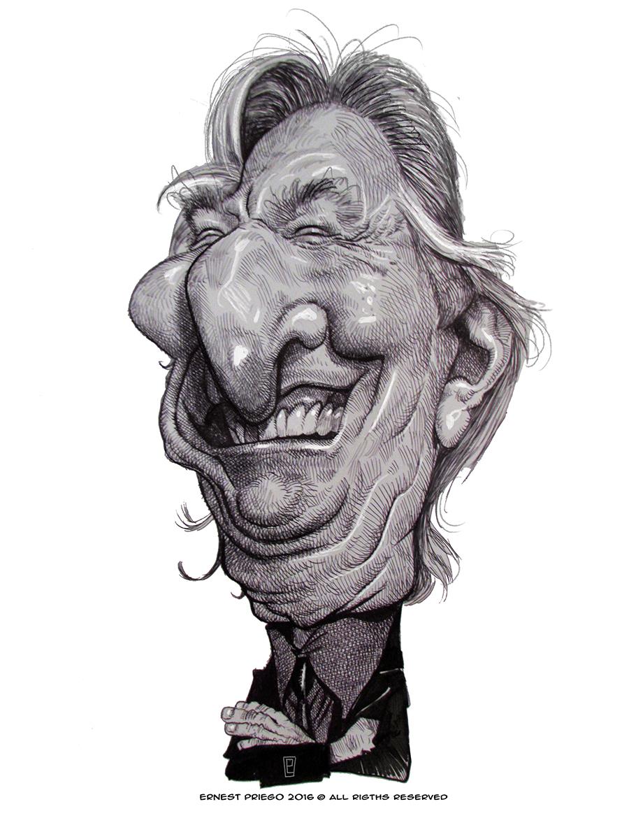 Alan Rickman por Ernesto Priego
