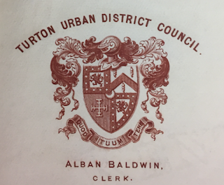 Turton Urban District Council letter head