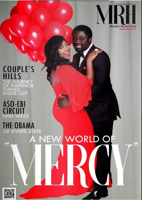 Mercy Johnson & Hubby, Odi Okojie Cover Maiden Edition Of Media Room Hub