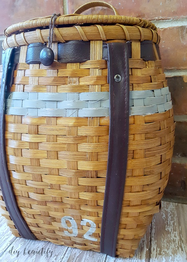 painted stripes on basket