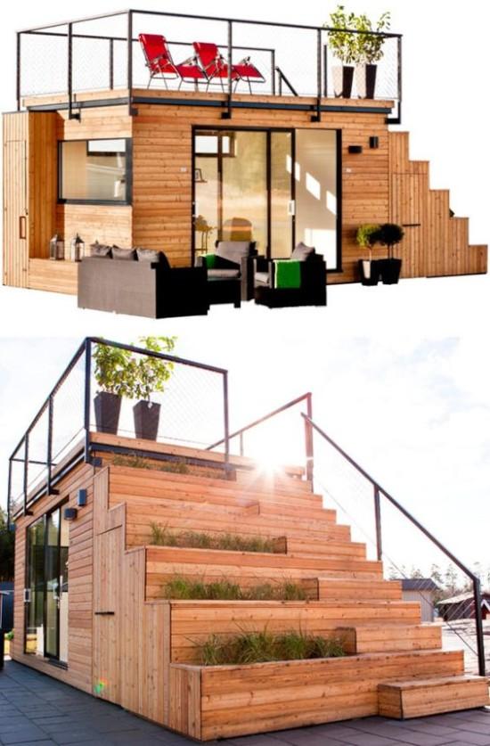 desain taman di atap rumah