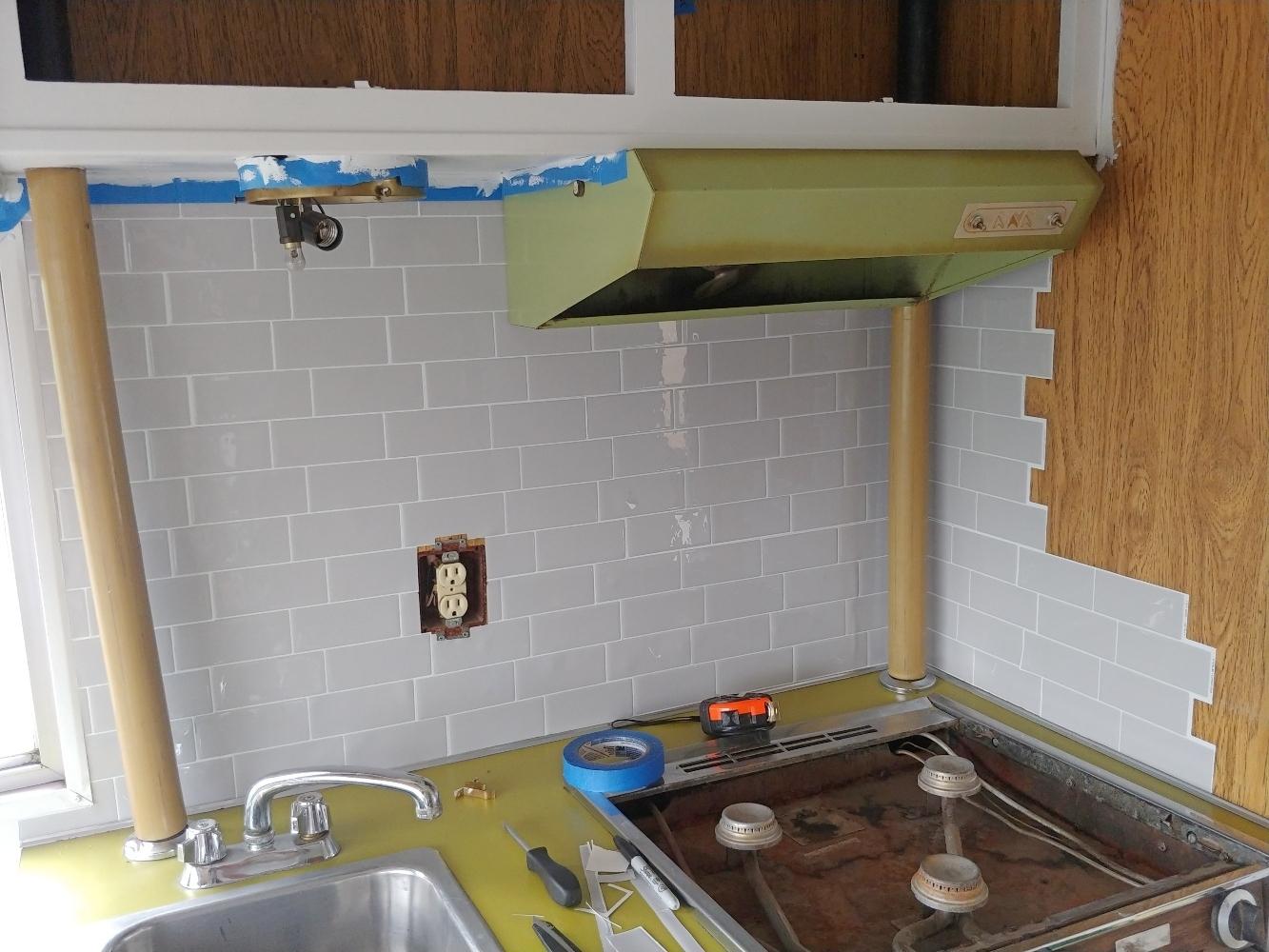 smart tile RV kitchen backsplash