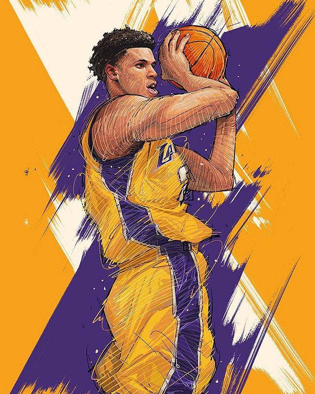 Hyper3 Ye - #YellowMenace Basketball Art Collection