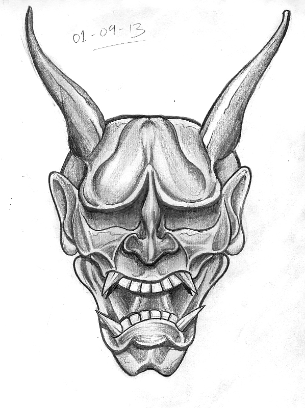 9c305042deed8 Straight forward Hannya mask, referenced from an actual mask. There is  probably not going to be a lot to say about these sketches they are all  going to be ...