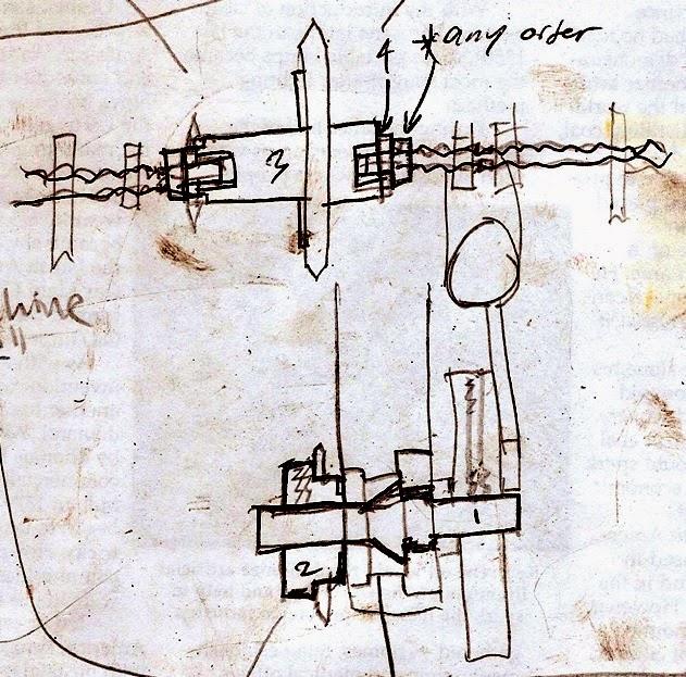 hand drawn compressor diagram