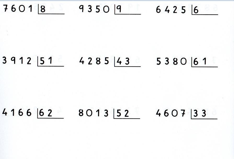 4º Primaria Matemáticas: DIVISIONES POR DOS CIFRAS