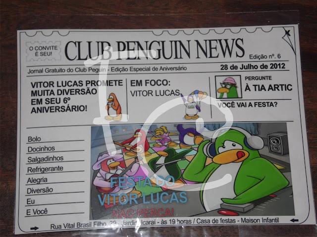 Convite Jornal - Club Penguin