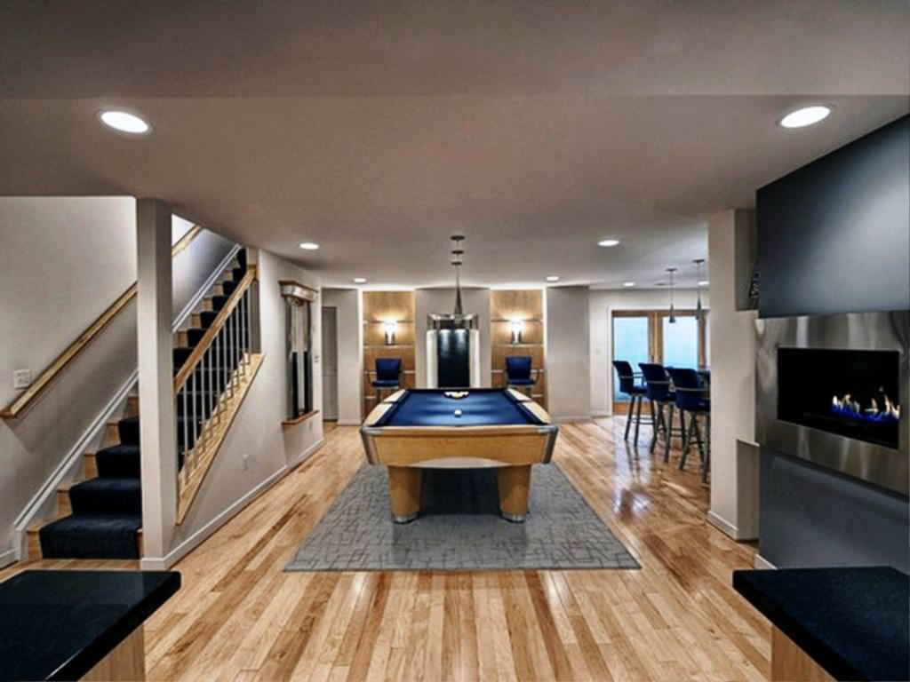 My basement ideas modern basement finishing ideas for Finished basement designs