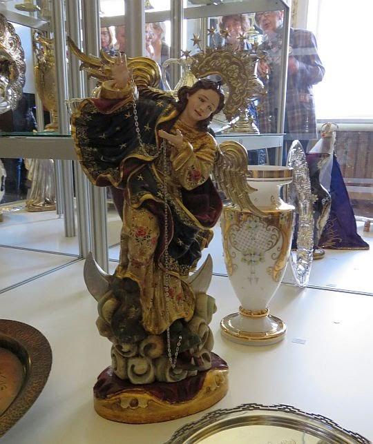 """Madonna uskrzydlana """"La Virgen Alada"""" z Quito (wg rzeźby z XVII w.)"""