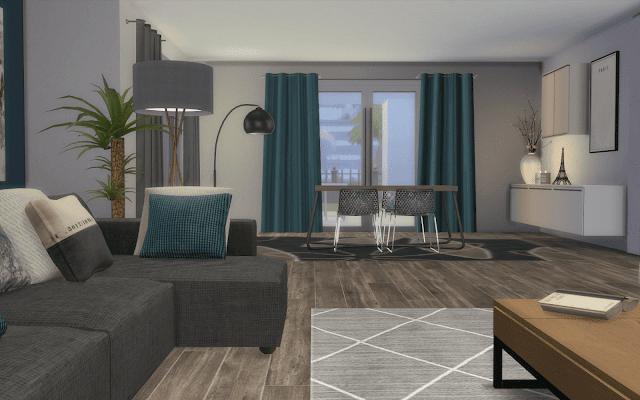 living modern Sims 4