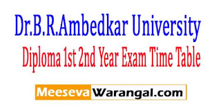 BRAU Diploma 1st 2nd Year Supply Exam Time Table 2017