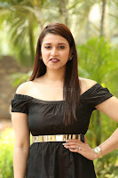 Mannara Chopra in Short Off Shoulder Black Dress ~  Exclusive 068.JPG