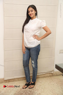 Tollywood Telugu Actress Mouryaani Latest Stills in Ripped Jeans at Intlo Deyyam Nakem Bhayam Movie Interview  0076.JPG