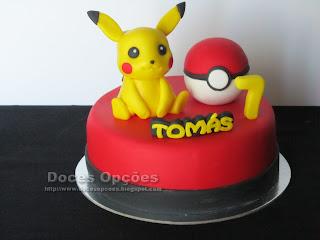 O Pikachu no 7º aniversário do Tomás