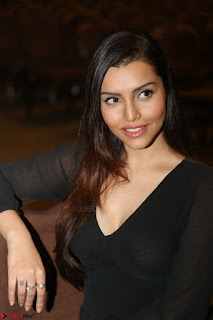Kyra Dutta in black At Rogue Movie Audio Launch ~  010.JPG